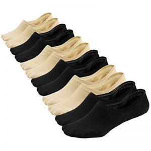 Soxtome Chaussettes Basses Femme – 6 Paire Antidérapant Coton Chaussettes Invisibles Courtes Mocassins de la marque Soxtome image 0 produit