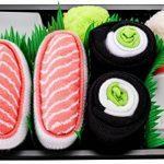 Sushi Socks Box - 2 paires de Sushi CHAUSSETTES en Coton: Saumon Nigiri Concombre Maki - CADEAU CRÉATIF pour Fammes et Hommes, Tailles UE: 36-40, 41-46| Bonne qualité - Certifié OEKO-TEX, made in UE de la marque Sushi+Socks+Box image 1 produit