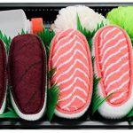 Sushi Socks Box - 2 paires de Sushi CHAUSSETTES en Coton: Thon Saumon Nigiri - CADEAU CRÉATIF pour Fammes et Hommes, Tailles UE: 36-40, 41-46| Bonne qualité - Certifié OEKO-TEX, made in UE de la marque Sushi-Socks-Box image 1 produit