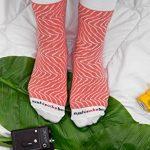 Sushi Socks Box - 5 paires de Sushi CHAUSSETTES en Coton: Saumon Thon Nigiri Concombre Oshinko Thon Maki - CADEAU CRÉATIF, Tailles UE: 36-40, 41-46| Bonne qualité - Certifié OEKO-TEX, made in UE de la marque Sushi-Socks-Box image 4 produit