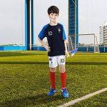 SUXMAN Maillots de Football Hommes Enfants T-Shirt 2 Étoiles Football 2018 Coupe du Monde France Vêtements de Football Champion avec Chaussettes et Accessoires (24) de la marque SUXMAN image 3 produit