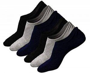 Teenloveme Homme Chaussettes Basses invisibles Respirantes, Homme Socquettes de Sport en Coton, Basiques Chaussettes avec Silicone, 3/6 paires de la marque Teenloveme image 0 produit