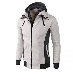 Tefamore Hommes Retro à Manches Longues à Capuche Sweat à Capuche Hauts Manteau de la marque Tefamore-Robe image 0 produit