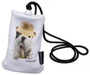 Teo Jasmin Teo Giorgio Housse chaussette en coton pour téléphone portable 125 x 66 x 8,5 mm Blanc de la marque Teo-Jasmin image 0 produit