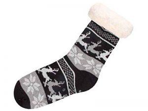 Trend-world Chaussettes antidérapante Taille Unique 39-44 Confortables Motif de Noël très Confortable à Porter pour remplacer Les Chaussons d'hiver, Hüttensocken SO-W-105:SO-W-105-2 Schwarz Grau weiß de la marque Trend-world image 0 produit