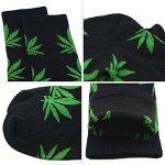 TTD 4 packs de mauvaises herbes uniSexe feuille de coton imprimé chaussettes feuille d'érable chaussettes imprimées sports sport marijuana haute équipage chaussettes de la marque TTD image 3 produit