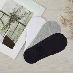 TUUHAW Chaussettes Basses pour Femmes Hommes 10 Paires Socquettes de Sport en Coton Antiglisse des Décontractées de la marque TUUHAW image 4 produit