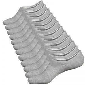 Ueither 3 ou 6 Paires de Chaussettes Basses pour Femmes, Socquettes de Sport en Coton, Antiglisse des Chaussettes Décontractées de la marque Ueither image 0 produit