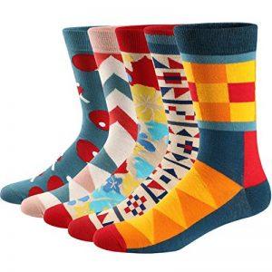 Ueither Chaussettes Fantaisie Homme Coton Peigné Confortable et Respirante Socks Socquettes de la marque Ueither image 0 produit