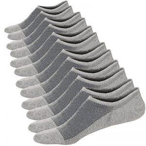 Ueither Homme Chaussettes Basses Respirantes Courtes Socquettes de Sport en Coton Confortable Basiques Chaussettes de la marque Ueither image 0 produit