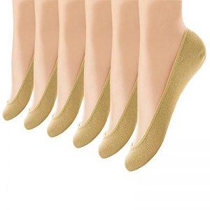 Ueither Lot de 6 Paires Chaussettes Invisibles Femme Coupe Basse Anti-Dérapant Silicone Socquettes Ballerine Chaussettes de la marque Ueither image 0 produit