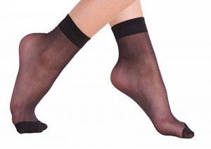 VCA® - Lot de 10 ou 20 paires de socquettes avec bord confort - 20 deniers - noir/couleur chair de la marque VCA image 0 produit
