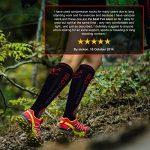 VeloChampion Chaussettes de Compression - Noir - Compression Sports Socks - Black - for Running, Cycling, Triathlon de la marque VeloChampion image 4 produit