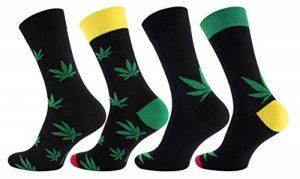 Vincent Creation Lot de 8 paires de chaussettes pour hommes, vêtements décontractés, Motif: feuilles de chanvre - 365 High. Avec du coton riche. de la marque Vincent-Creation image 0 produit