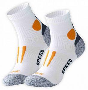 Vincent Creation VCA - Lot de 2 paires de chaussettes de course à pied - haute performance - rembourrée et élastiquée - pointe remaillée main de la marque Vincent-Creation image 0 produit