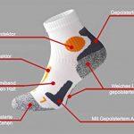 Vincent Creation VCA - Lot de 2 paires de chaussettes de course à pied - haute performance - rembourrée et élastiquée - pointe remaillée main de la marque Vincent-Creation image 4 produit