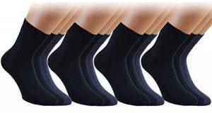 Vitasox Chaussettes basses homme en coton sans élastique sans couture unies 6 paires de la marque Vitasox image 0 produit