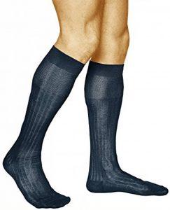 vitsocks Chaussettes Hautes Homme 100% COTON MERCERISÉ (Lot de 2) Habillées Côtelées Élégantes de la marque vitsocks image 0 produit
