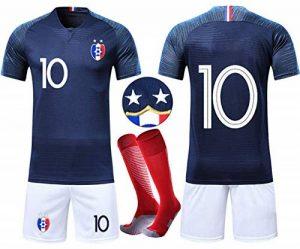 VOOA Ensembles de Sport Maillot de Football Enfant France 2 étoiles Garçon Manche Courte Suit de Football et Chaussettes de la marque VOOA image 0 produit