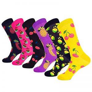 WEILAI - Paquet de 6 paires de chaussettes mi-mollets décontractées et cool pour hommes de la marque WEILAI+SOCKS image 0 produit