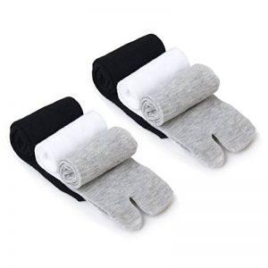 WINOMO 3 paires Chaussettes Tabi Chaussettes de coton Sabots Tongs 2-Orteil Elastique Unisexe de la marque WINOMO image 0 produit