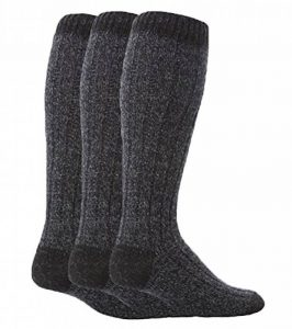 Workforce - 3 paires homme extra longues hautes laine chaussettes pour marcher de la marque Workforce image 0 produit