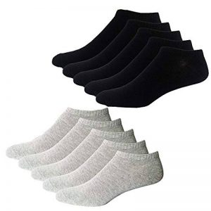 YouShow Chaussettes de Basket Hommes Femmes 10 Paires Chaussettes mi Chaussettes Courtes Coton Unisexe OEKO-TEX Standard 100 de la marque YouShow image 0 produit