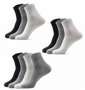 ZYLL 10 Paires Hommes Chaussettes 100% Coton Couleur Unie Tube Moyen Respirant Confortable de la marque ZYLL image 0 produit