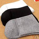 ZYLL 10 Paires Hommes Chaussettes 100% Coton Couleur Unie Tube Moyen Respirant Confortable de la marque ZYLL image 1 produit